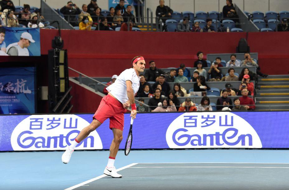 百岁山亮相杭州国际网球赛,天王费德勒魅力点燃网球激情